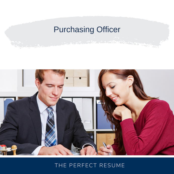 Purchasing Officer Resume Writing Services
