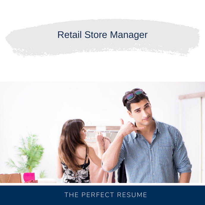 Retail Store Manager Resume Writing Services