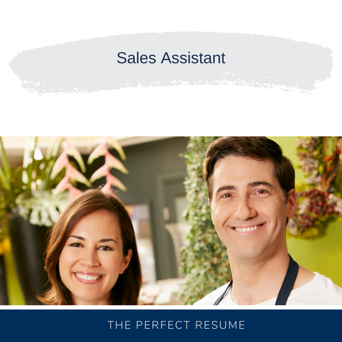Sales Assistant Resume Writing Services