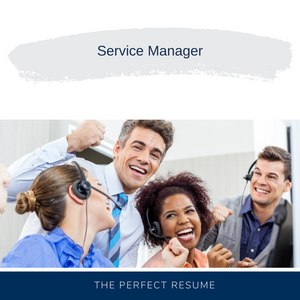 Service Manager Resume Writing Services