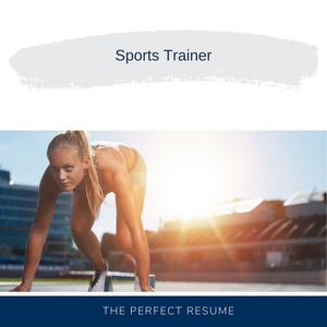 Sports Trainer Resume Writing Services