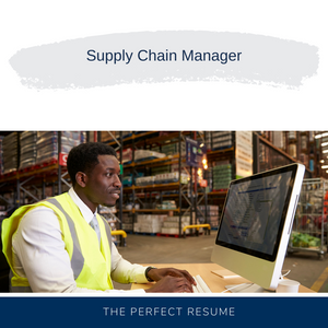 Supply Chain Manager Resume Writing Services