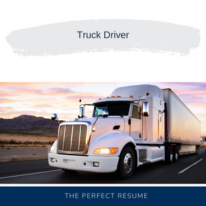 Truck Driver Resume Writing Services
