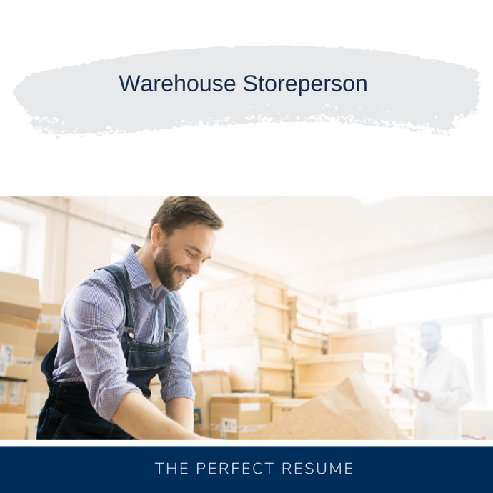 Warehouse Storeperson Resume Writing Services