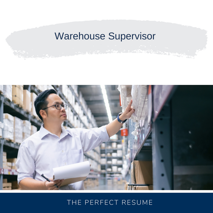 Warehouse Supervisor Resume Writing Services