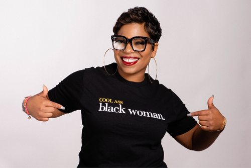 #CoolAssBlackWoman Ladies' T-Shirt (Unisex)