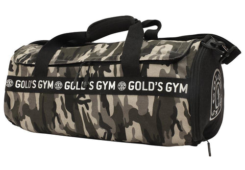 Gold's Gym Camo Barrel Bag