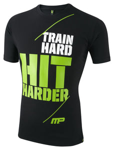 MusclePharm Crew Neck Hit Harder Tee
