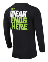 Load image into Gallery viewer, MusclePharm Long Sleeve Weak Ends Here Rashguard