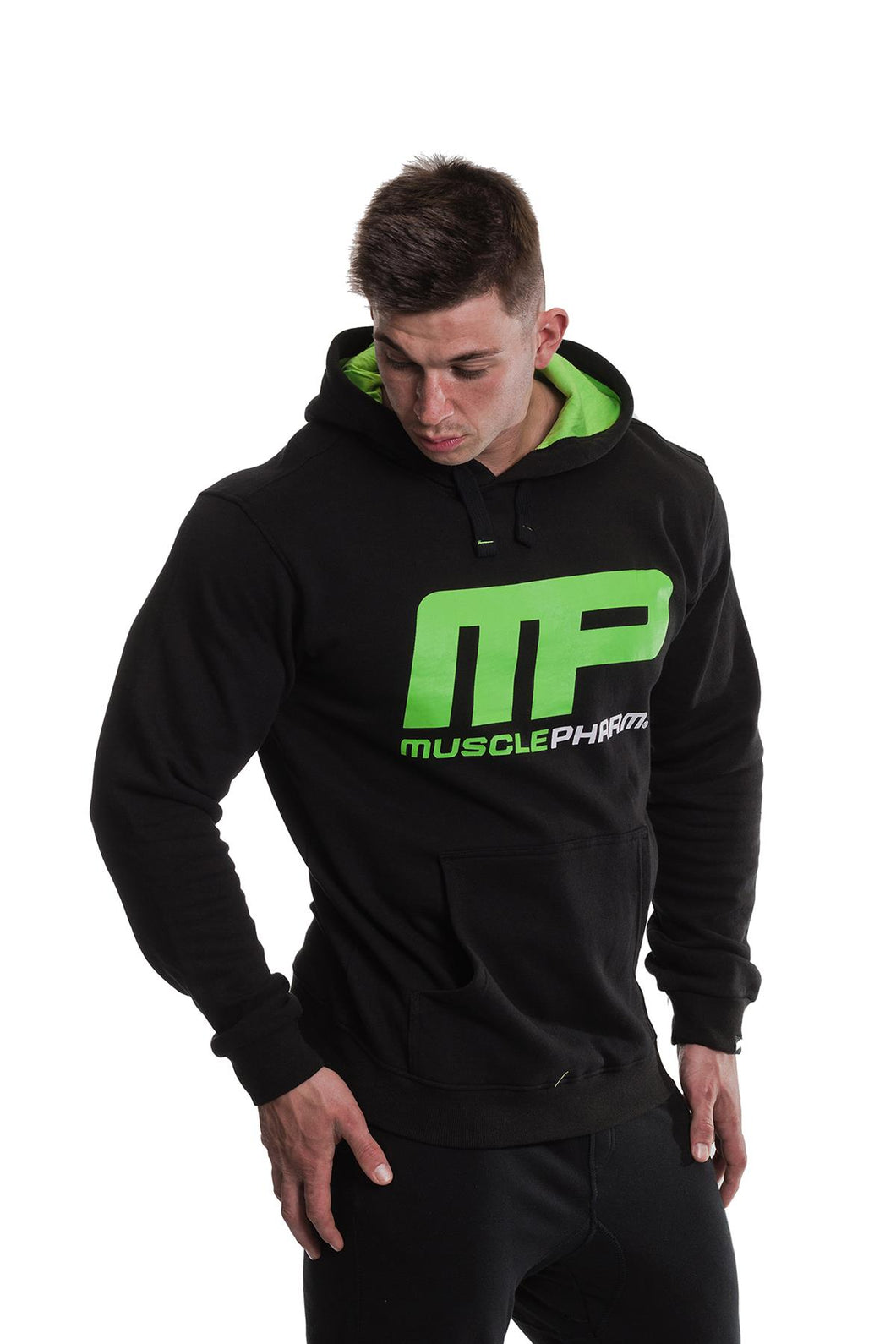 MusclePharm Pullover Large Logo Print Hoodie
