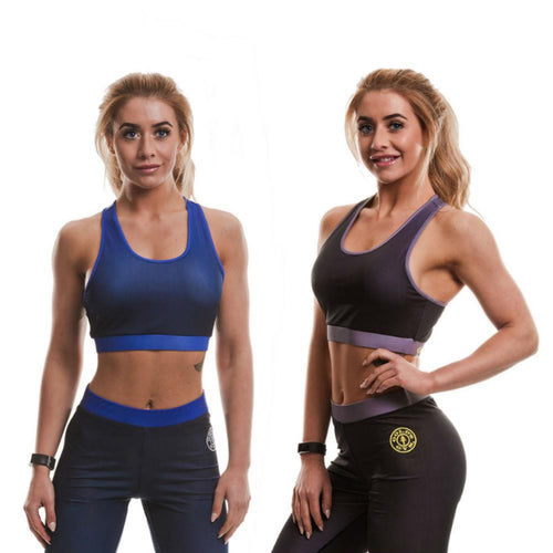 Gold's Gym Gradient Mesh Lined Sports Crop Top