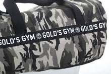 Load image into Gallery viewer, Gold's Gym Camo Barrel Bag