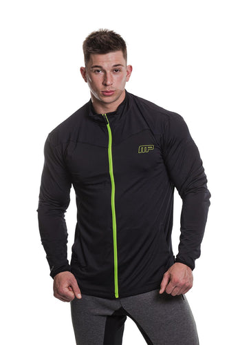 MusclePharm Full Zip Sweater with Mesh Panels