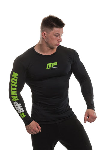 MusclePharm Long Sleeve Logo Rashguard