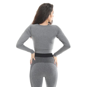 Gold's Gym Long Sleeve Cropped Sweater