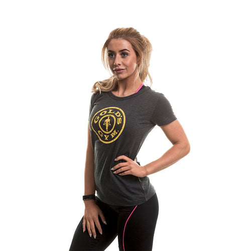 Gold's Gym Ladies Stronger Than Boys Print Tee