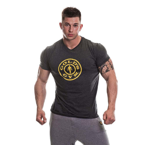 Gold's Gym Stronger Than Excuses Slogan T-Shirt