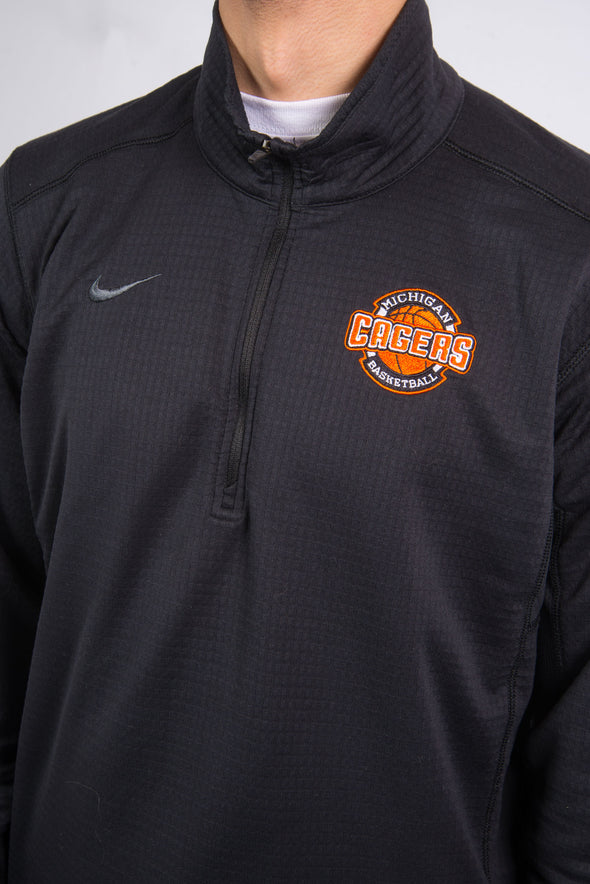 Nike 1/4 Zip Sports Sweatshirt Michigan Basketball