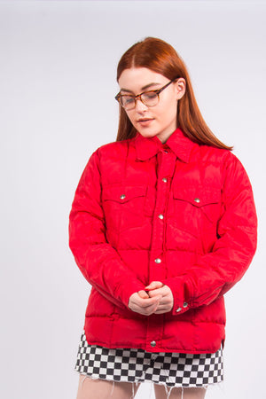 Vintage 70's Red Puffer Jacket