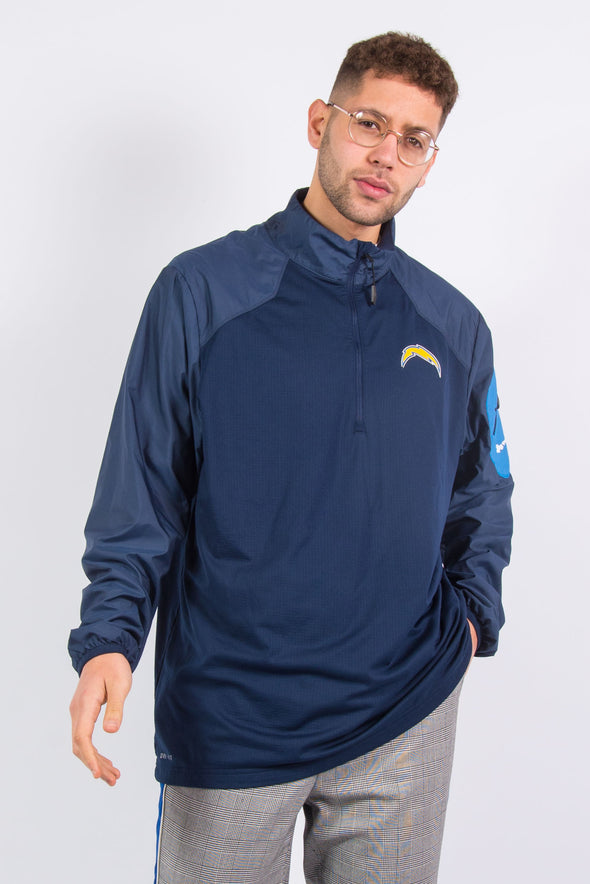 Nike NFL Los Angeles Chargers 1/4 Zip Windbreaker Pullover