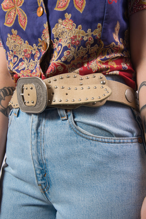 Vintage 70's Leather Belt