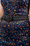 Vintage 90's Faux Leather Woven Belt