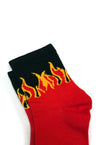 Black & Red Flame Socks