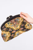 Vintage Tapestry Clutch Bag