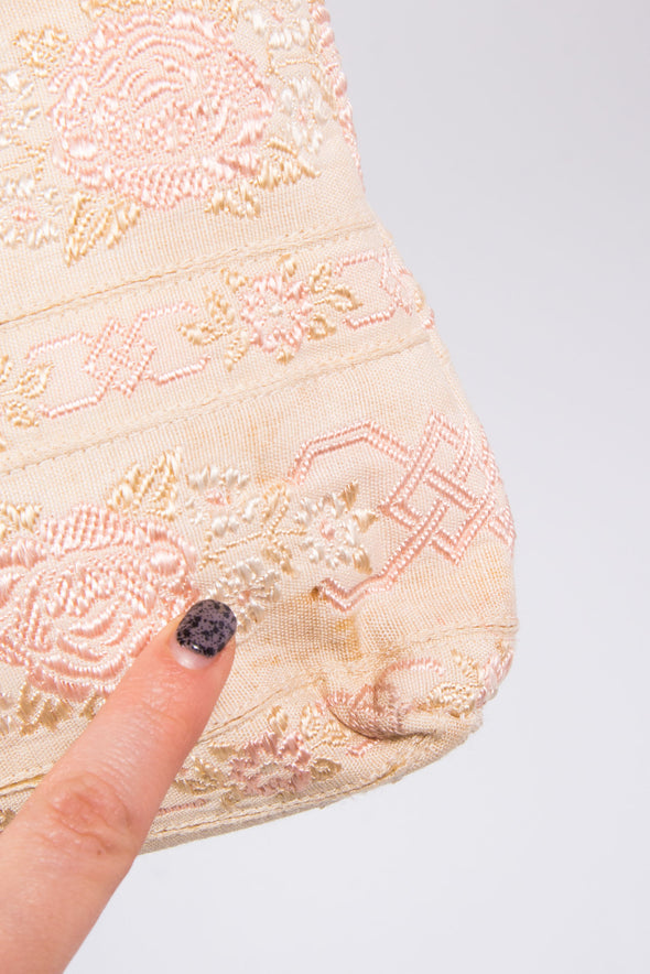 Vintage Brocade Tapestry Clutch Bag