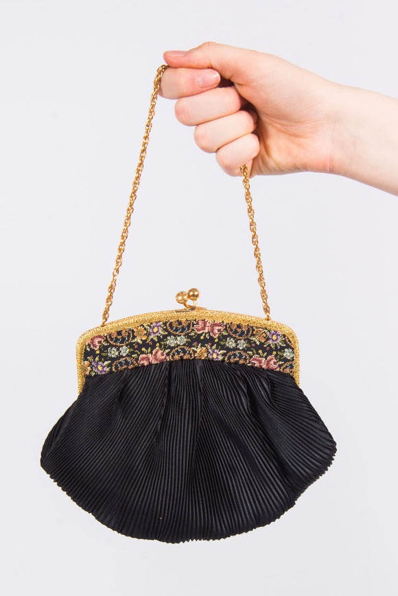 Vintage Cute Black Mini Bag