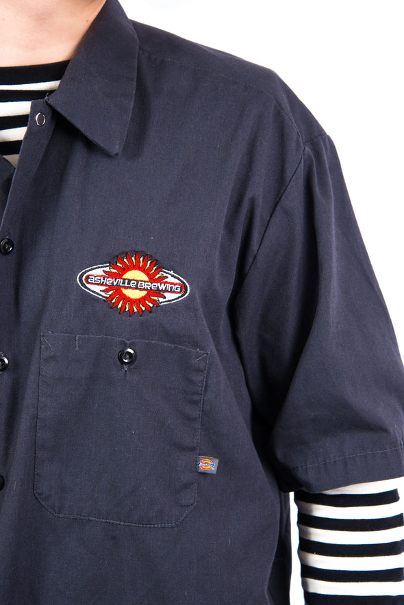 Vintage Dickies 'Asheville Brewing' Work Shirt