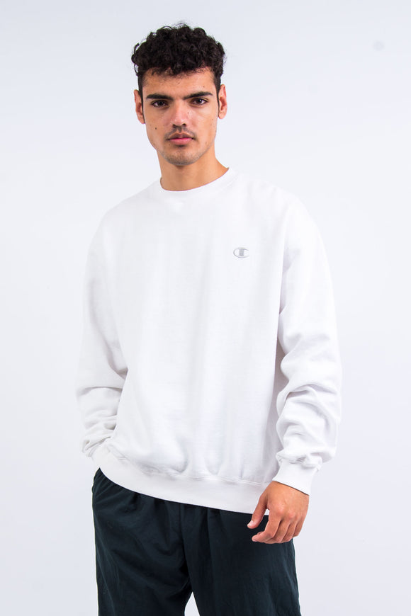 90's White Champion Sweatshirt