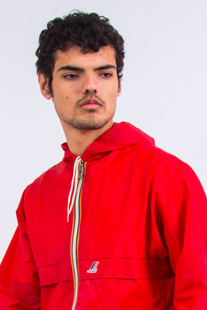 Vintage Red K-Way Waterproof Jacket