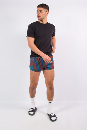 Vintage 70's Striped Beach Short Shorts