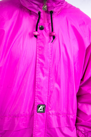 Pink K-Way Waterproof Rain Jacket