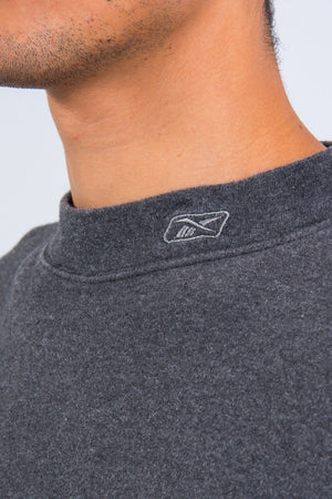 Grey Reebok High Neck Sweatshirt