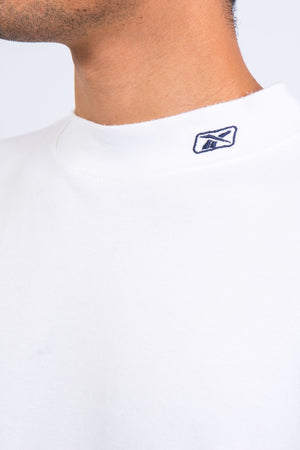 White Reebok High Neck Sweatshirt