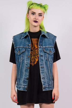 Vintage 90's Levi's Sleeveless Denim Jacket Gilet