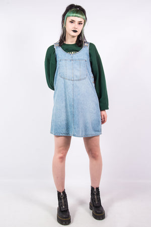 Vintage 90's Denim Pinafore Dress
