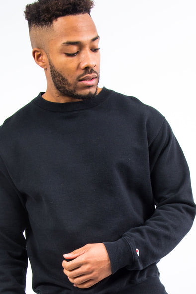 00's Plain Black Champion Sweatshirt