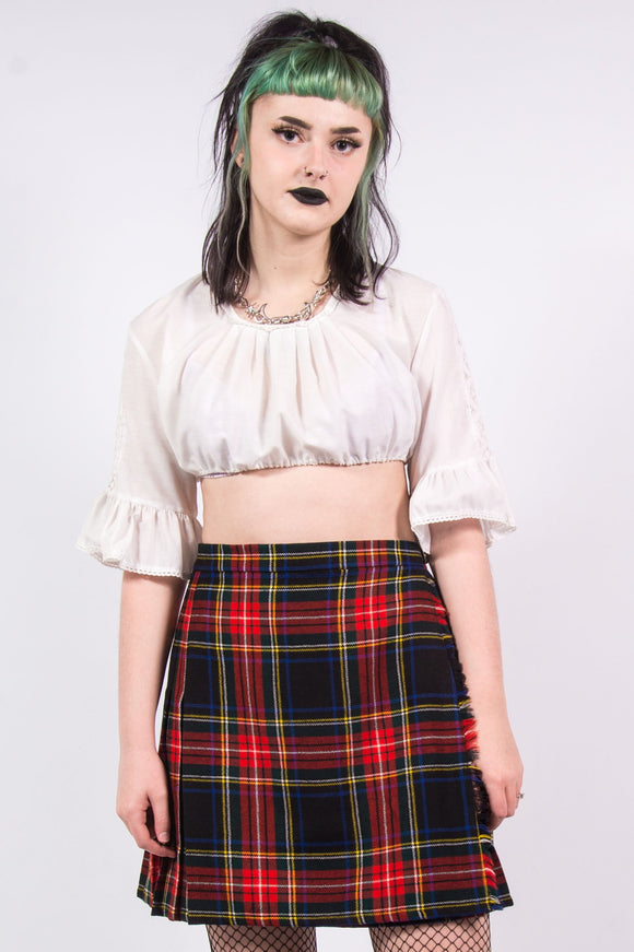 Vintage 90's White Milk Maid Crop Top