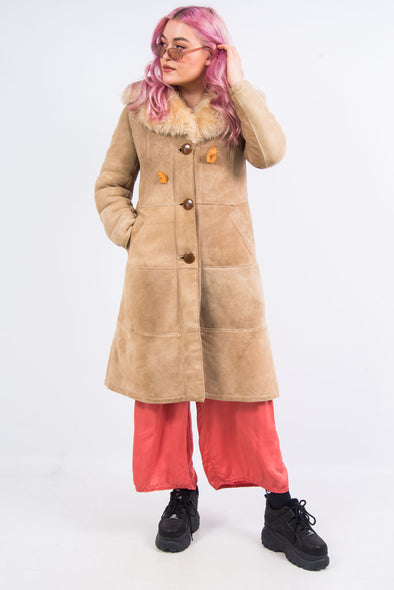Vintage 70's Sheepskin Suede Coat
