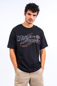 90's Harley Davidson Spell Out T-Shirt