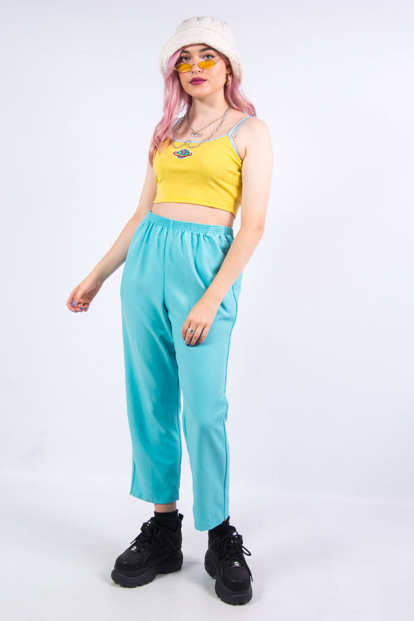 Vintage 90's Turquoise High Waist Trousers