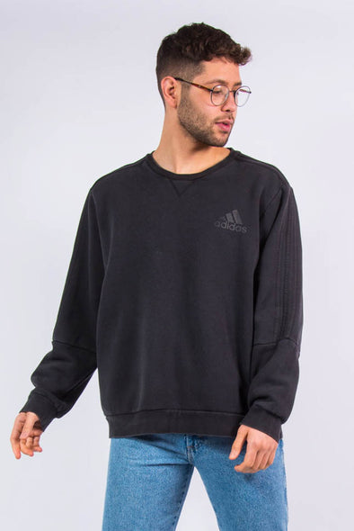 Adidas Black Crew Neck Sweatshirt