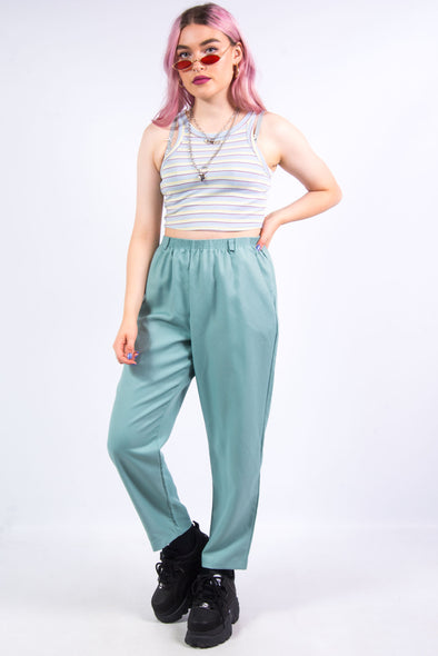 Vintage 90's Green High Waist Trousers