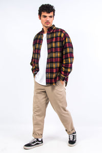90's Check Pattern Cord Shirt