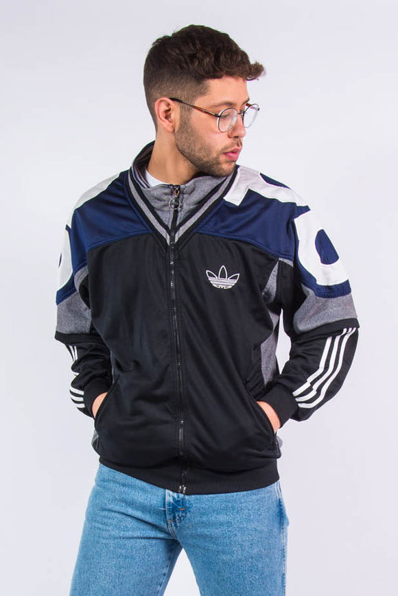 Vintage Adidas Spell Out Tracksuit Top