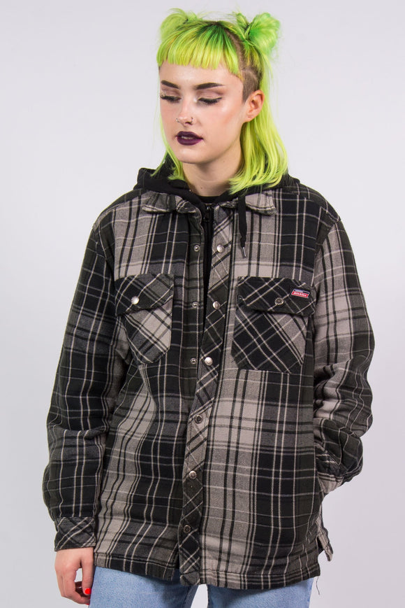Vintage 90's Dickies Check Jacket Padded Shirt