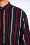 90's Vintage Striped Cord Shirt